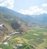 Paesaggio del Bhutan Immagini Stock Libere da Diritti
