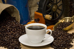 Paesaggio del caffè fotografia stock