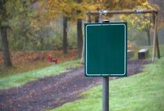 Paesaggio del campo da giuoco di autunno Immagini Stock