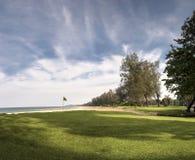 Paesaggio del campo da golf Immagini Stock