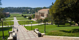 Paesaggio del campus universitario Fotografia Stock