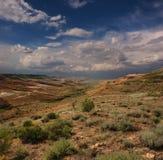 Paesaggio del canyon dei pendii in Ustyurt Immagini Stock