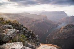 Paesaggio del canyon del fiume di Blyde, Africa fotografie stock libere da diritti