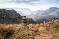 Paesaggio del canyon del fiume di Blyde, Africa immagini stock libere da diritti