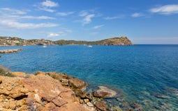 Paesaggio del capo di Sounio, Attica, Grecia Fotografia Stock Libera da Diritti