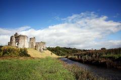 Paesaggio del castello di Kidwelly Fotografie Stock