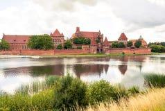 Paesaggio del castello di Malbork fotografie stock