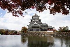 Paesaggio del castello giapponese in autunno immagine stock