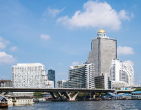 Paesaggio del Chao Phraya. Bangkok, Tailandia Immagini Stock