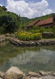 Paesaggio del cielo dello stagno del pozzo d'acqua Fotografia Stock Libera da Diritti