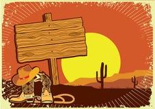 Paesaggio del cowboy Fotografie Stock Libere da Diritti