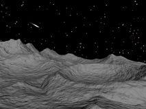 Paesaggio del cratere Immagine Stock