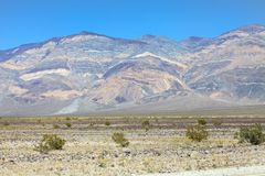 Paesaggio del Death Valley Fotografie Stock Libere da Diritti