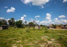 Paesaggio del delta di Okavango nel Botswana fotografie stock libere da diritti