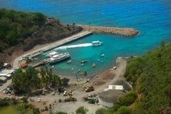Paesaggio del DES Saintes delle isole nei Caraibi francesi Immagini Stock Libere da Diritti