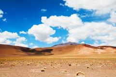 Paesaggio del deserto in Altiplano, Bolivia Fotografie Stock Libere da Diritti
