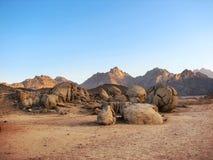 Paesaggio del deserto con le montagne Fotografia Stock Libera da Diritti