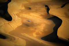 Paesaggio del deserto della Cina Xinjiang Fotografie Stock Libere da Diritti