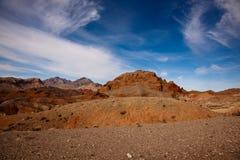Paesaggio del deserto della roccia fotografie stock
