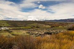 Paesaggio del deserto delle alte montagne dell'Idaho Immagine Stock