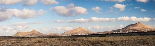 Paesaggio del deserto di Lanzarote Fotografia Stock Libera da Diritti