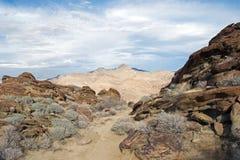 Paesaggio del deserto e montagna nei canyon indiani Fotografie Stock