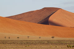Paesaggio del deserto, Sossusvlei, Namibia Fotografia Stock