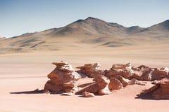 Paesaggio del deserto sul plateau Altiplano, Bolivia Fotografia Stock Libera da Diritti