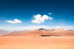 Paesaggio del deserto sul plateau Altiplano, Bolivia Immagini Stock