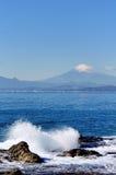 Paesaggio del Enoshima Chigogafuti. fotografia stock