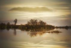Paesaggio del fiume. Immagine Stock
