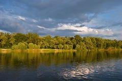 Paesaggio del fiume Fotografia Stock