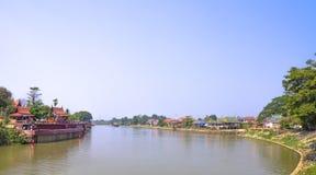 Paesaggio del fiume Immagini Stock