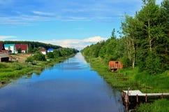 Paesaggio del fiume Immagini Stock Libere da Diritti