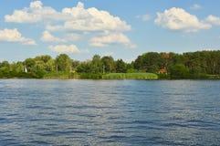Paesaggio del fiume Fotografie Stock