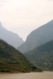 Paesaggio del fiume Chang Jiang nebbioso Fotografia Stock Libera da Diritti