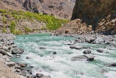Paesaggio del fiume della roccia Fotografie Stock Libere da Diritti