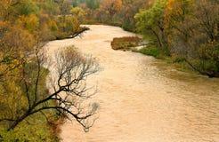 Paesaggio del fiume di autunno Immagini Stock Libere da Diritti