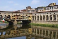 Paesaggio del fiume di Firenze Immagini Stock Libere da Diritti