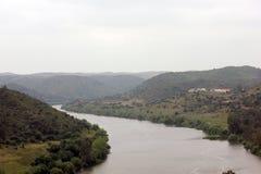 Paesaggio del fiume di Guadiana Fotografia Stock Libera da Diritti