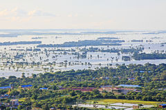 Paesaggio del fiume di Mandalay Irrawaddy, Myanmar fotografie stock libere da diritti