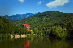 Paesaggio del fiume di Olt Fotografie Stock Libere da Diritti