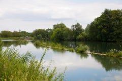 Paesaggio del fiume in Francia Immagine Stock Libera da Diritti