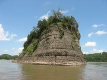 Paesaggio del fiume Mississippi Fotografia Stock