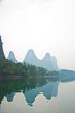 Paesaggio del fiume nell'inverno, Guilin, Cina di Li Fotografia Stock