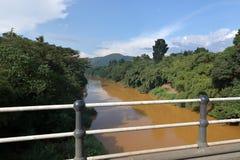 Paesaggio del fiume nello Sri Lanka Immagine Stock Libera da Diritti