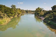 Paesaggio del fiume rurale in Tailandia Immagine Stock Libera da Diritti