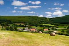 Paesaggio del francese nella Borgogna Immagine Stock Libera da Diritti