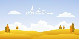 Paesaggio del fumetto di autunno illustrazione vettoriale