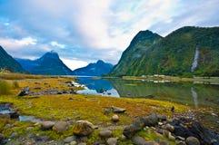 Paesaggio del ghiacciaio dell'alta montagna Immagini Stock